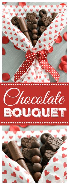 Chocolate Bouquet-This is a Perfect Gift for Valentine's Day! Make a Handmade Chocolate Bouquet for your loved one this year! Who wouldn't be thrilled to get this fun Valentine's Day bouquet? Valentines Day Chocolates, Valentine Desserts, Valentine Chocolate, Valentines Day Food, Valentines Day Decorations, Valentine Day Crafts, Walmart Valentines, Party Desserts, Valentine's Day Quotes