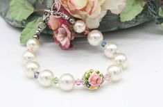 Pearl Bracelet, Swarovski Pearl Bracelet, Swarovski Crystal, Wedding Jewellery, Bride & Bridesmaid Bracelet, Something Special, Gift for Her