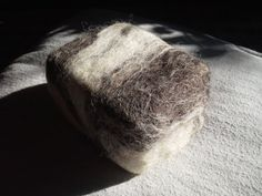 Felted Aleppo soap unscented no coloring all by KnittingPlanet