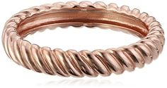 Rose Gold Plated Sterling Silver Twisted Ring Size 7 -- Read more reviews of the product by visiting the link on the image.Note:It is affiliate link to Amazon.