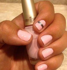 single stripe nail