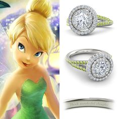 "Gemvara Eloise ring inspired by Tinker Bell from Disney's ""Peter Pan"""