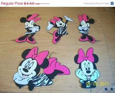 minnie mouse diecut set fully assembled5 pc by cocacolabear1980, $4.50