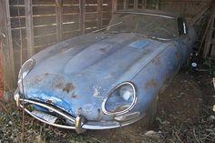 True Blue Barn Find: 1967 Jaguar E-Type - http://barnfinds.com/true-blue-barn-find-1967-jaguar-e-type/