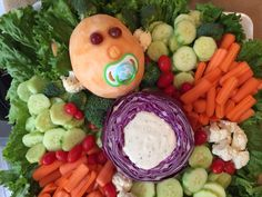 Baby Shower Vegetable Tray!