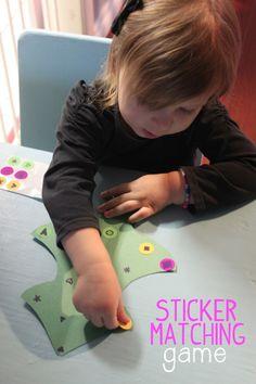 #Christmas Tree Sticker Matching Game