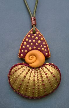 Polymer clay pendant by Shelley Atwood