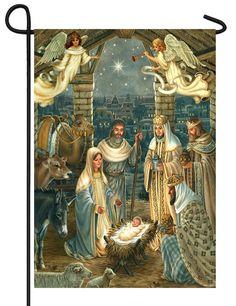 IAmEricas Flags - Royal Nativity Scene Garden Flag, $14.00 (http://www.iamericasflags.com/royal-nativity-scene-garden-flag/)