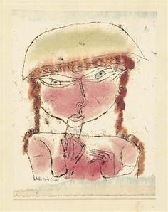 Paul Klee - Rotes Mädchen mit gelbem Topfhut, 1919...