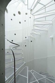 Abstract Clear Staircase