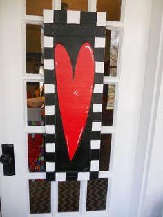 Checkered Door Heart