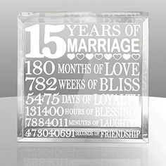 15th wedding anniversary gift ideas for wife