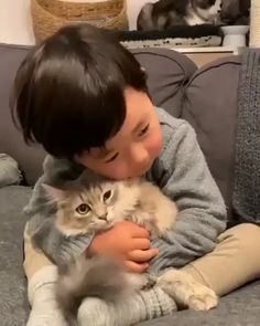 """From """"「Best friend」""""  Funny Cat Videos Cute Funny Animals, Cute Baby Animals, Funny Cute, Animals And Pets, Cute Cats, So Cute Baby, Cute Babies, Funny Cat Videos, Funny Gifs"""
