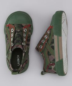 Take a look at this Camo Slip-On Sneaker by Launch on #zulily today!