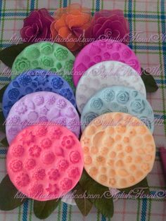 8 big size silicone Mold's Plates  New Creation By StylishFloralArt