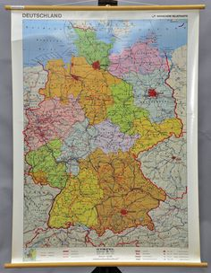 vintage school relief topographic map by Wenschow illustrating