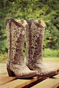 """Western wear, Leather And Lace AKA """"The Wedding Boot""""  Corral Boots"""