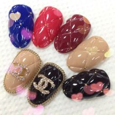 [31 Mar 2014] Manicure Monday   Ramblings of a Girl in the City I'm in LOVE with these #Chanel quilted nail art design set.