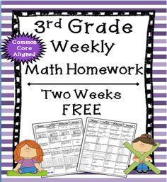 Homework 3rd grade