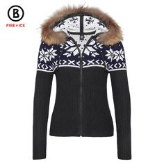 f431e8c7d28 Bogner Fire + Ice Naomi Sweater with real fur trim (Women s)