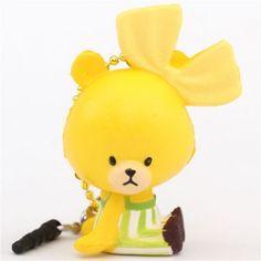 cute yellow Tiny Twin Bears squishy charm kawaii