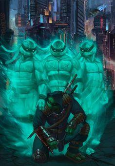 Tmnt Comics, Arte Dc Comics, Ninja Turtles Art, Teenage Mutant Ninja Turtles, King Kong, Tmnt Wallpaper, Kon Bleach, Art Ninja, Samurai