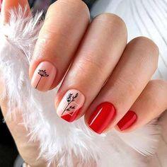 Fall Nail Art Designs, Red Nail Designs, Simple Gel Nails, Red Manicure, Nail Jewelry, Minimalist Nails, Dipped Nails, Burgundy Nails, Hot Nails