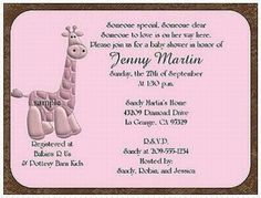Tips on Personalizing Discount Baby Shower Invitations Custom Baby Shower Invitations, Baby Shower Invitation Cards, Babies R, Giraffe, Catering Services, How To Plan, Unique Baby, Tips, Party Ideas