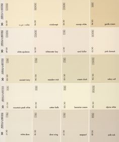 Although they look like a definite color when shown together, on your walls they will be white. C.B.I.D. HOME DECOR and DESIGN: HOW TO PAINT KITCHEN CABINETS                                                                                                                                                                                 More
