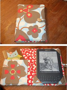 Perfect little Kindle cover ... in one of my favorite fabrics!