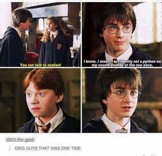 Lol he said it like it was no big deal! Harry! You're Slytherin side is showinggg