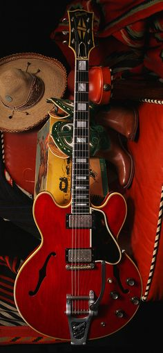 Play guitar in a band. Write and sing songs that people relate to relationships/ break ups/ life/ making the most out of it. Pictured: GIBSON ES-355TD 1962.