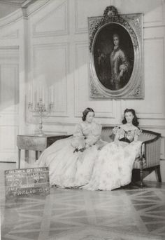 Olivia de Havilland and Vivien Leigh during the filming of Gone with the Wind in 1939.