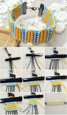 DIY Easy and Beautiful Knot Bracelet DIY Easy and Beautiful Knot Bracelet Diy Bracelets Easy, Bracelet Crafts, Jewelry Crafts, Diy Bracelets Step By Step, Macrame Jewelry, Macrame Bracelets, Chain Bracelets, Macrame Knots, Parachute Cord Bracelets