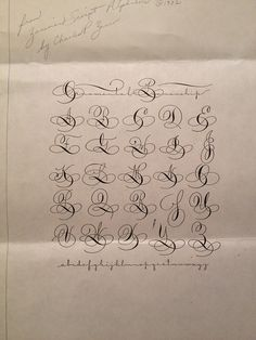 'ornamental penmanship' : alphabet, uppercase & lowercase.