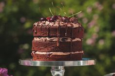 #chocolate #cherry #nakedcake