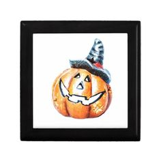 Halloween Pumpkin Jewelry Box  #Halloween #Pumpkin #JewelryBox