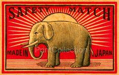 Japan Safety Matches, Elephant