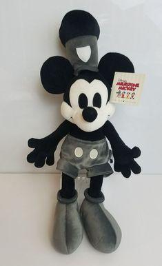 Disney Steamboat Willie Milestone Mickey 1928 Plush Limited Edition  #Disney