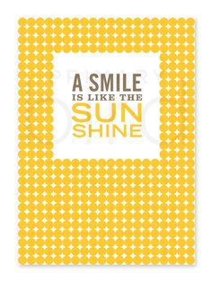Simple Reminder 5 x 7 Print A Smile is Like the by PrimaryBird, $7.00