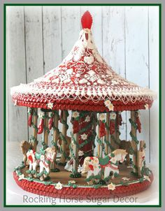 Christmas Carousel by Rocking Horse Sugar Cookies | Cookie Connection