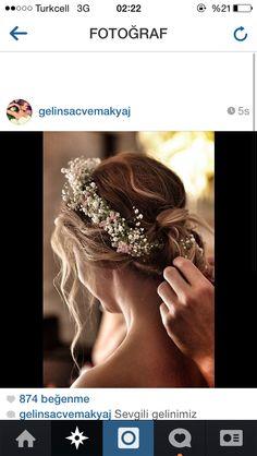 Doğal saç modeli, gelin, gelinlik,düğün
