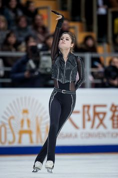 Yulia Lipnitskaya of Russia performs during the ladies' free skating event at the 2016 Rostelecom Cup