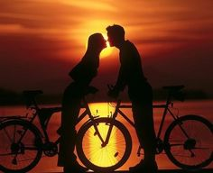 My husband and I always bike ride under the sunset...this is a brilliant shot, we must replicate!!!!