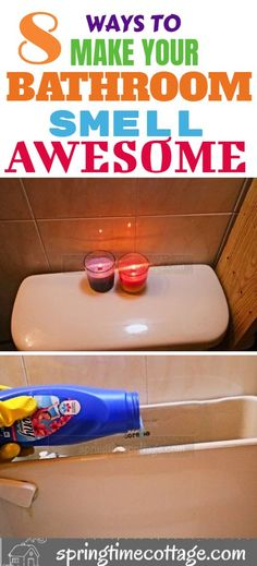 Here are some good cleaning tips, and home hacks to use to make your bathroom smell awesome! tips for home hacks 16 Wonderful Bathroom Smell Hacks for the home lover Diy Home Cleaning, Deep Cleaning Tips, Household Cleaning Tips, House Cleaning Tips, Diy Cleaning Products, Cleaning Solutions, Spring Cleaning, Apartment Cleaning, Cleaning Checklist