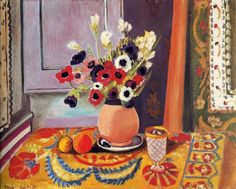 Henri Matisse | Anemones in an Earthenware Vase, 1924