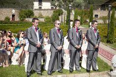 Ceremony in garden of Villa Baroncino, wedding venue Tuscany www.romanticitalianweddings.com