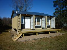 container homes   ... Lockable, Godzilla-Proof Container Home/Small House   Relaxshax's Blog   I like the idea of the container doors staying on the front of the container home for added security.