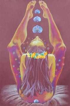 Jessica Ballantyne Hippy feliz. Impresión de Giclee por Funkshizzy