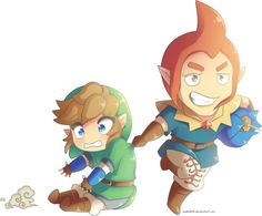 Chibi Link and Groose ^w^
